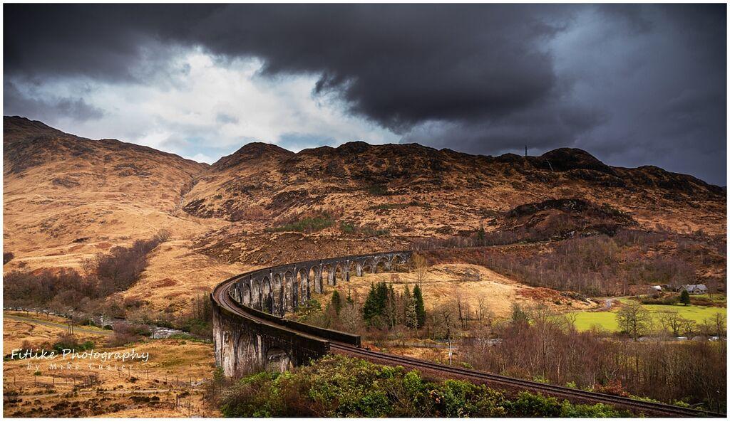 Glennfinnan Viaduct, Glennfinnan, Scotland.