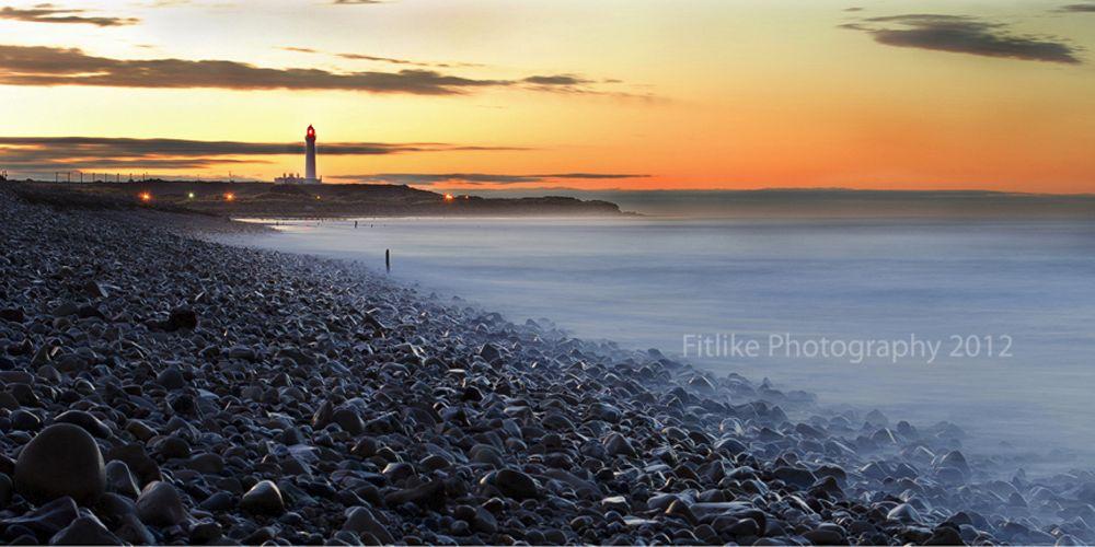 Covesea Lighthouse Sunset