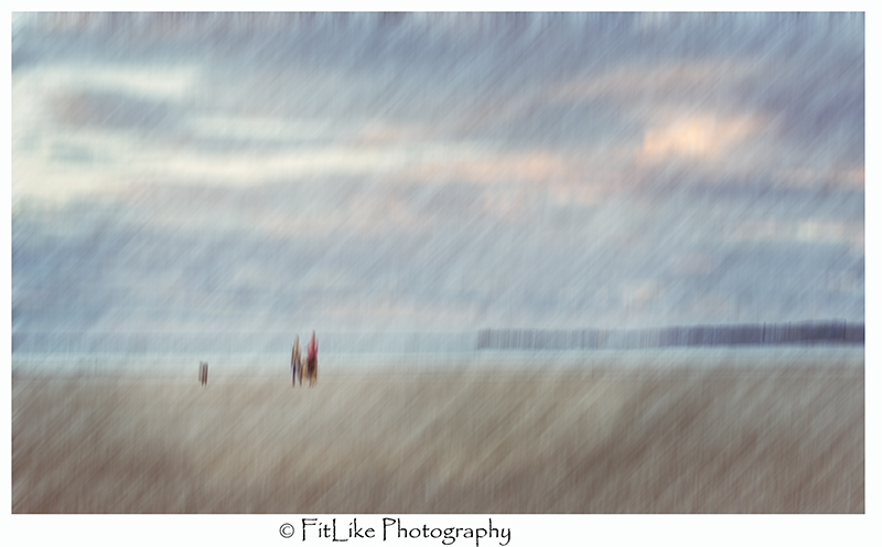 Findhorn Beach Walkers