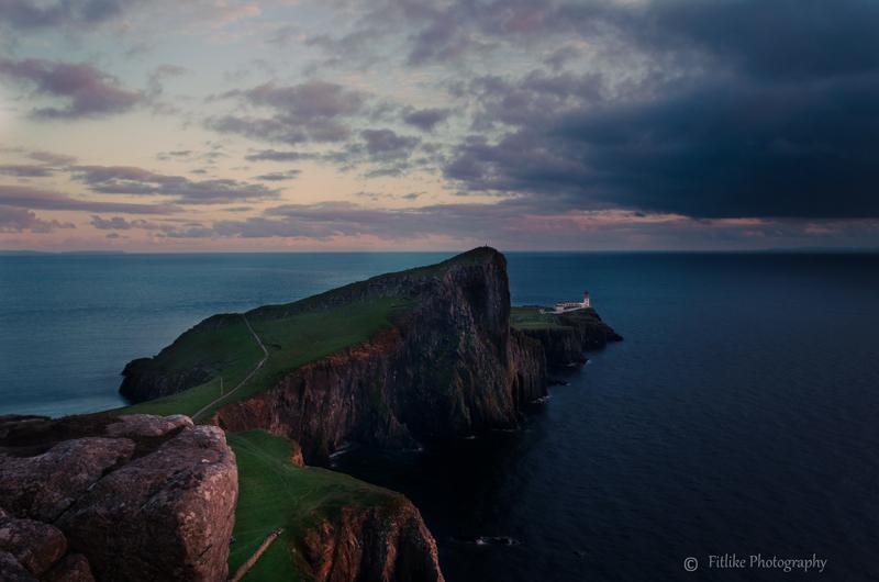 A sunset image taken at Neist Point, Skye, Scotland