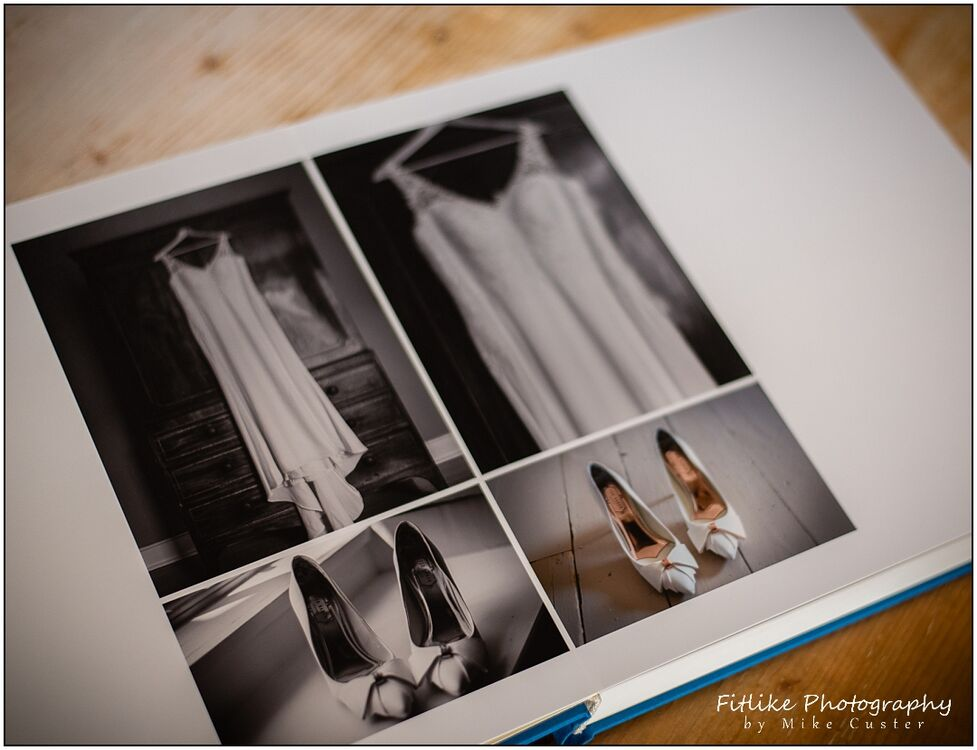 Wedding Photographers Perthshire, A weding photo album by NPhoto showing the bridal wear