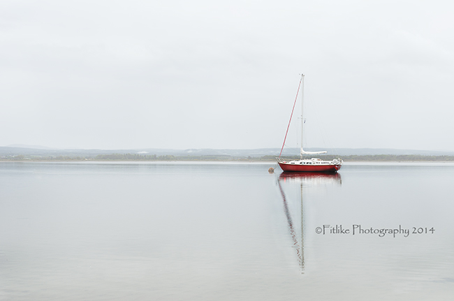Red Yacht in Findhorn