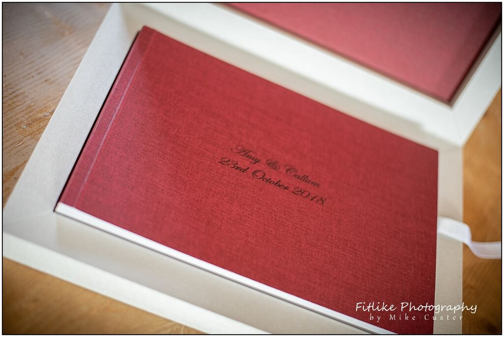 Inverness Wedding Photographers, A wedding photo album, a Youngbook by Graphistudio showing the cover and box lining.