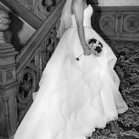 Bride on Beautiful Staircase