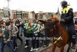 Celtic fans in Amsterdam