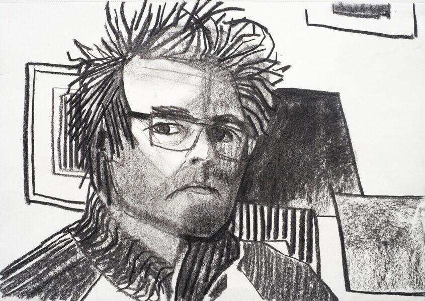 Self Portrait 4. Charcoal