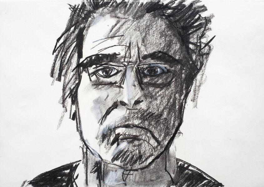 Self Portrait 1. Charcoal