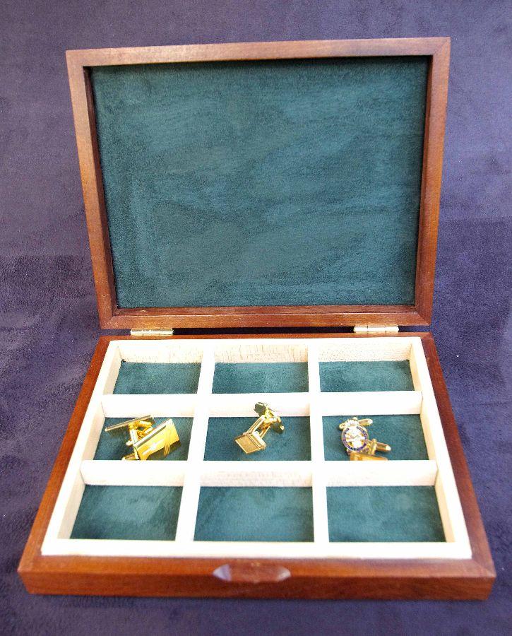 Cufflink-Box-Green Interior
