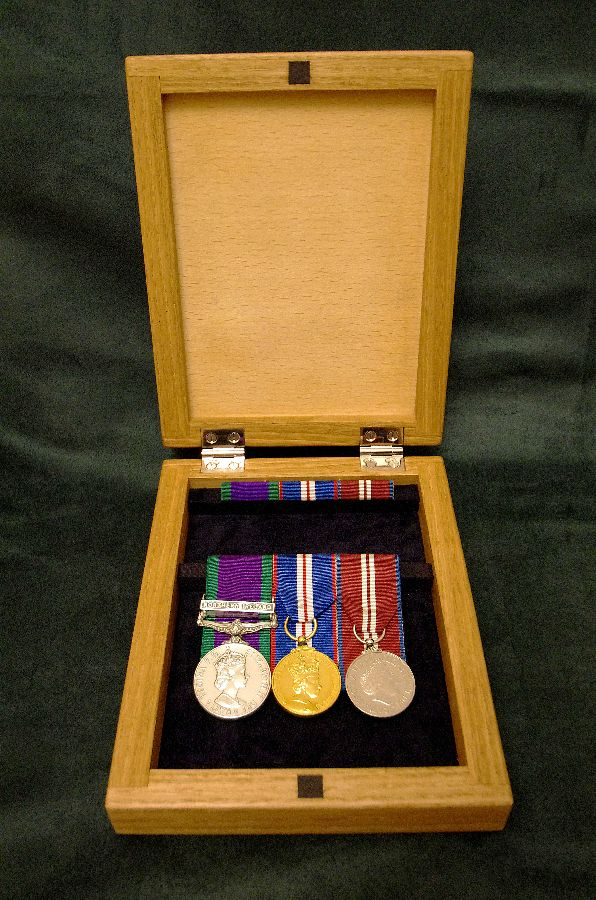 Medal Box Hinged-open