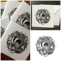 """Sweet Dreams"" Fine Art Cards. Pack of 5"