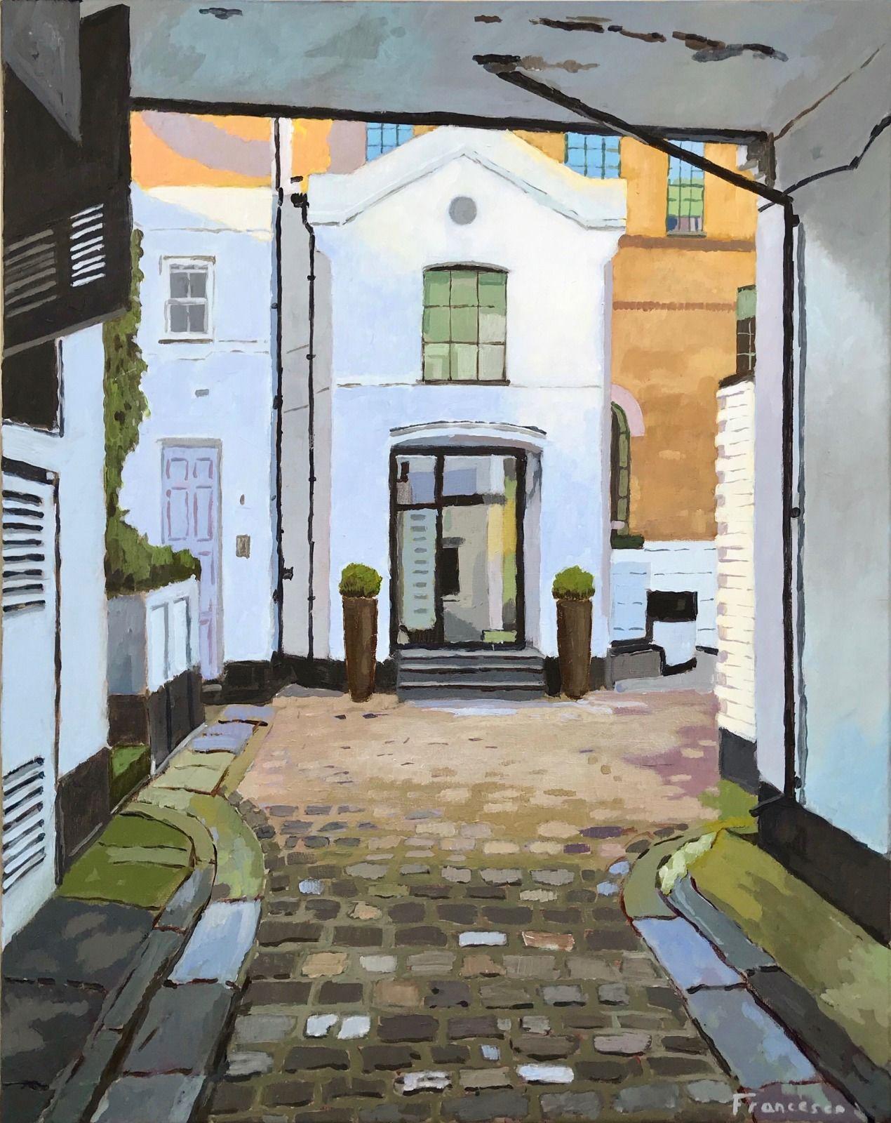 Hampstead, London. Acrylic on canvas, 16x20 '