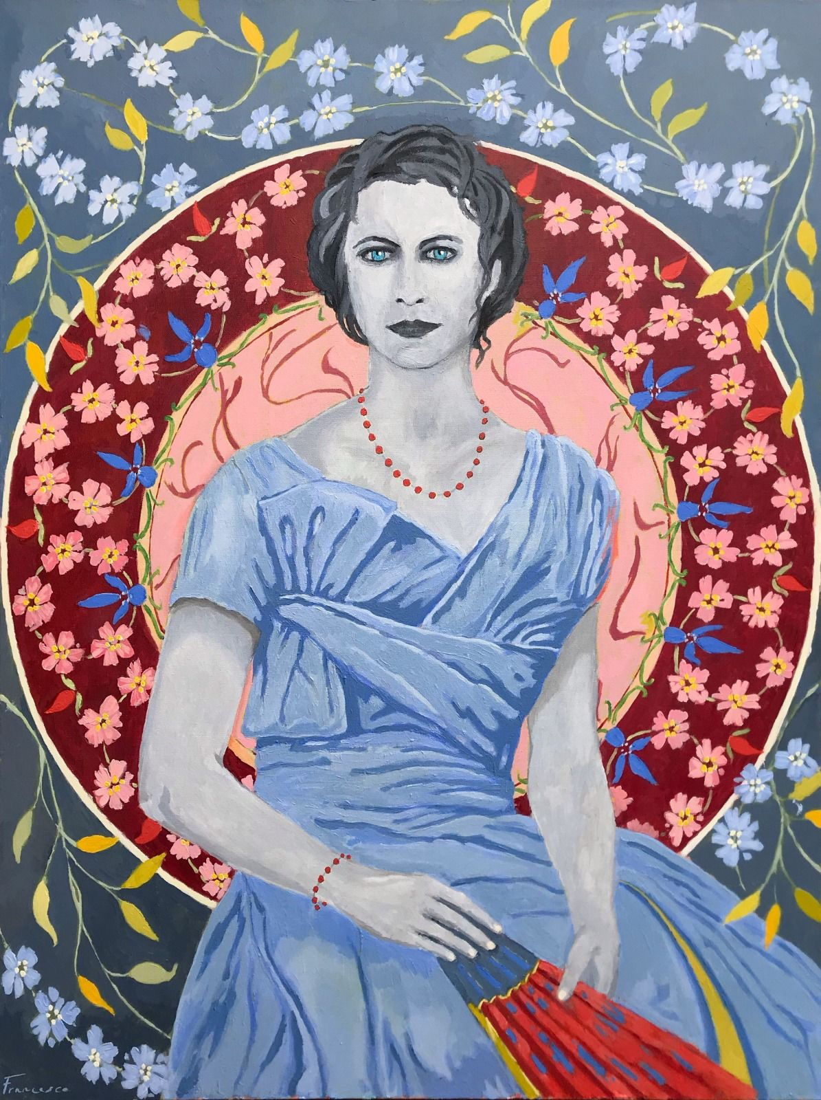 "Lilibet. Acrylic on canvas. 30x40"""