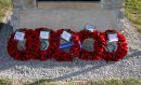 The Wreaths laid at the Staplehurst ALG Memorial