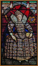 19th-century stained Glass Window