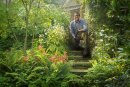 Head Gardener, Steve Eddnie in the Salutation Garden