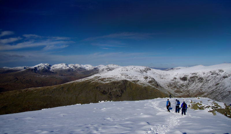 Scafell Pike from Dow Crag