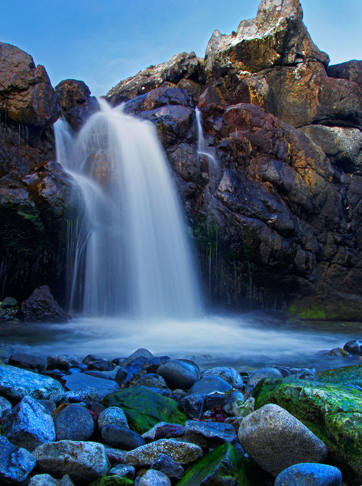 Waterfall near Dibidil Isle of Rum