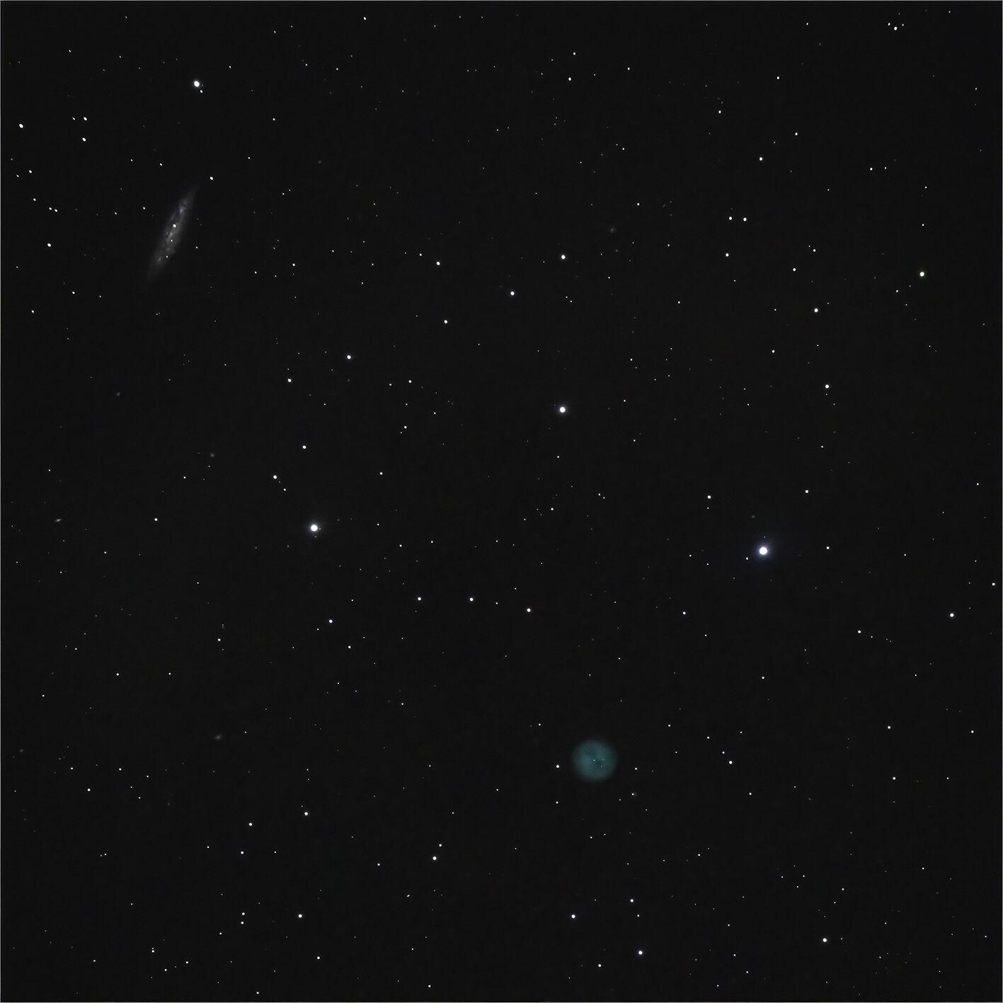 M97 The Owl Nebula and  M108