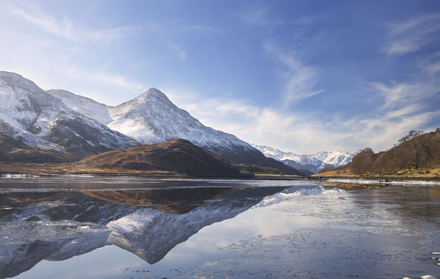 winter 1 Looking to the Pap of Glencoe Loch Leven