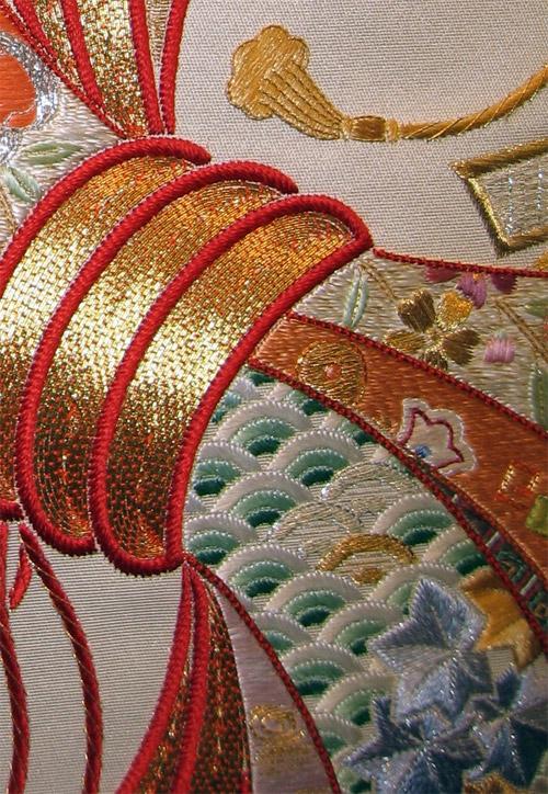 Goldwork on Noshii work