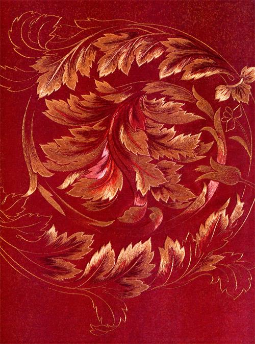 Goldwork leaves