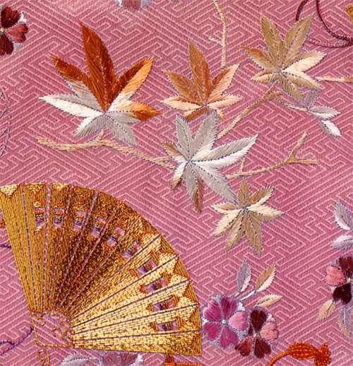 Fan and Maple Leaves
