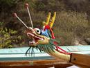 Chinese Dragon boat figurehead.0184DHK