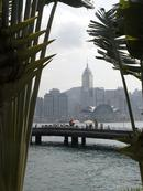 The Avenue of Stars and Hong Kong island through the bamboos.0227DHK