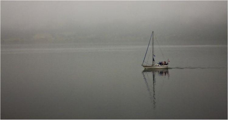 Sailing through the mist