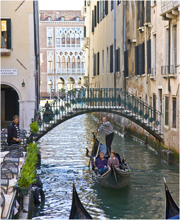 Returning from the Grand Canal