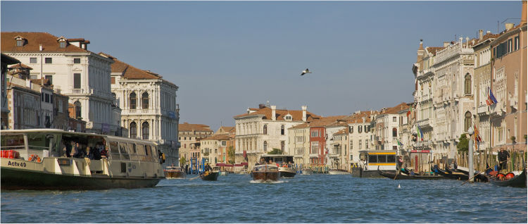 Busy on the Grand Canal