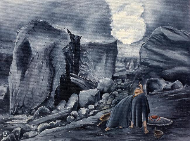 Frodo and Sam at Mount Doom