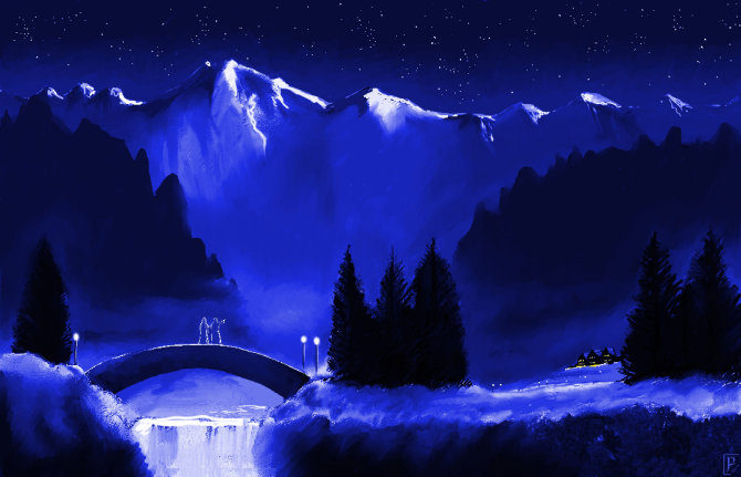 Rivendell under Stars