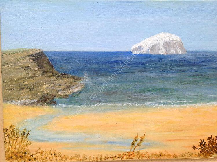 Bass Rock from Tantallon, Scotland
