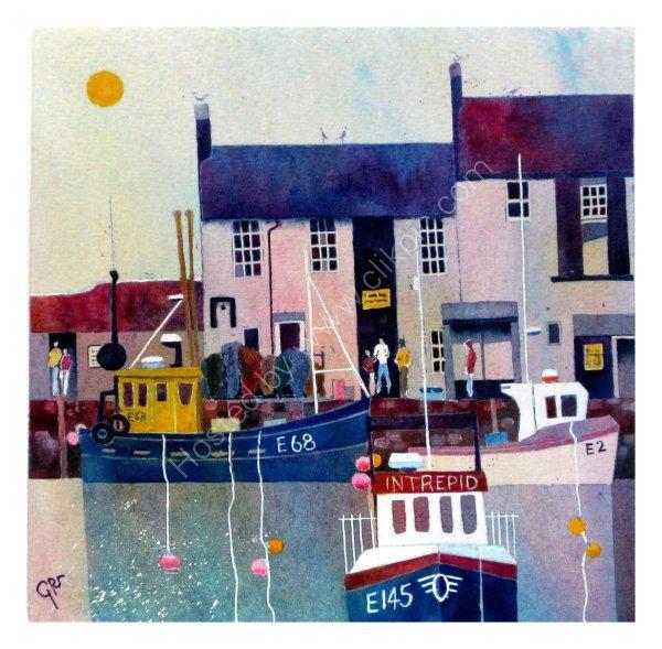 Quayside Conversation, Lyme Regis