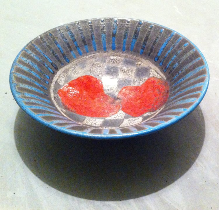 Red Apples Blue Bowl