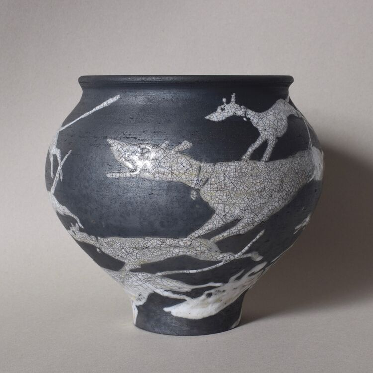 Longdogs running Vase (view 1)