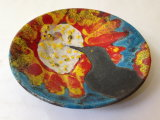 Bird pecking Sunburst Flower Bowl