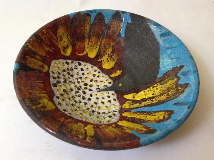 Bird and Sunburst Flower Bowl