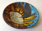 Bird and Sunburst Flower Bowl