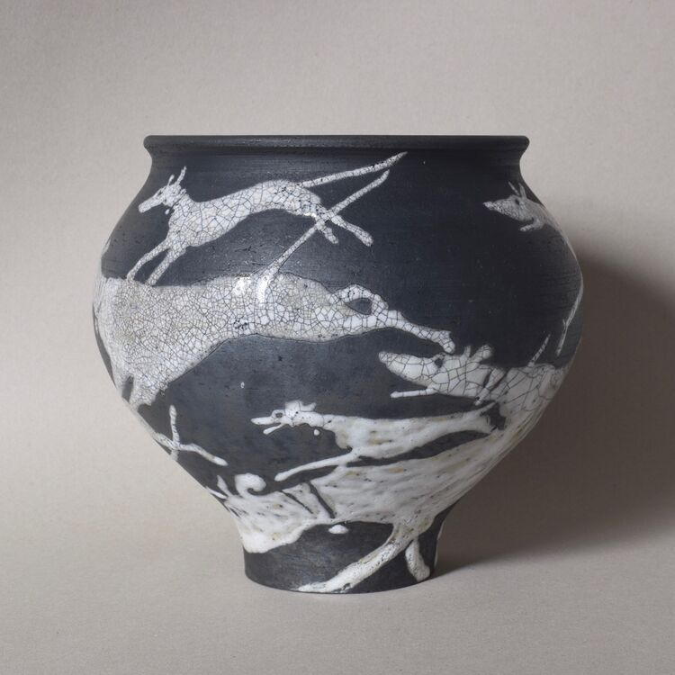 Longdogs running Vase (view 2)