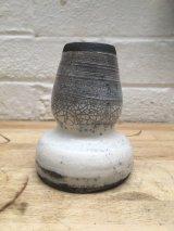 Raku bud Vase A20 (sidel view)