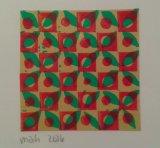 Hand-Cut Lino print card