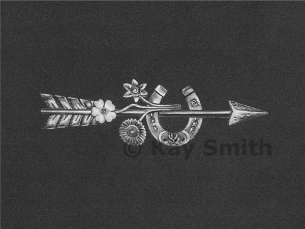 Silver Arrow Brooch