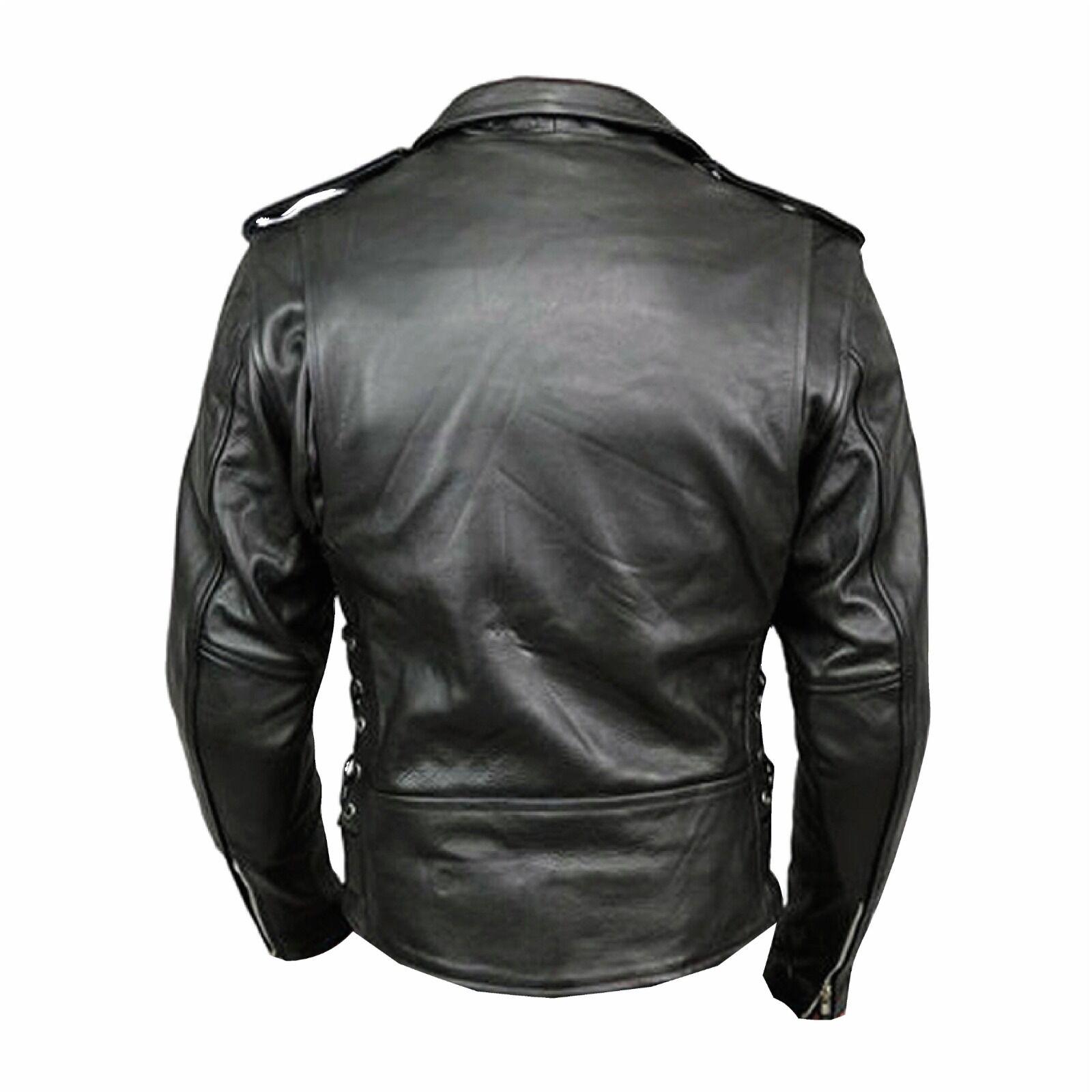 Cafe Racer Brando Style Leather Jacket
