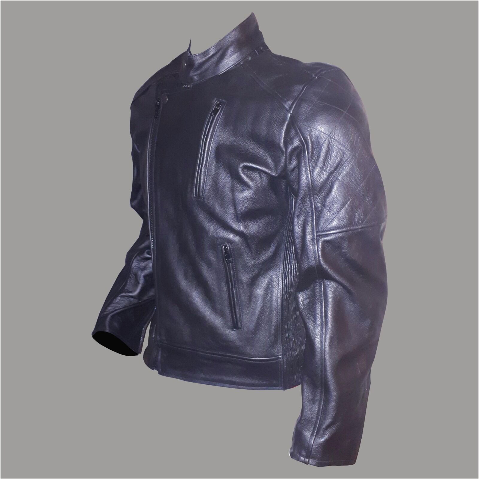 Classic Styled Black Leather Jacket