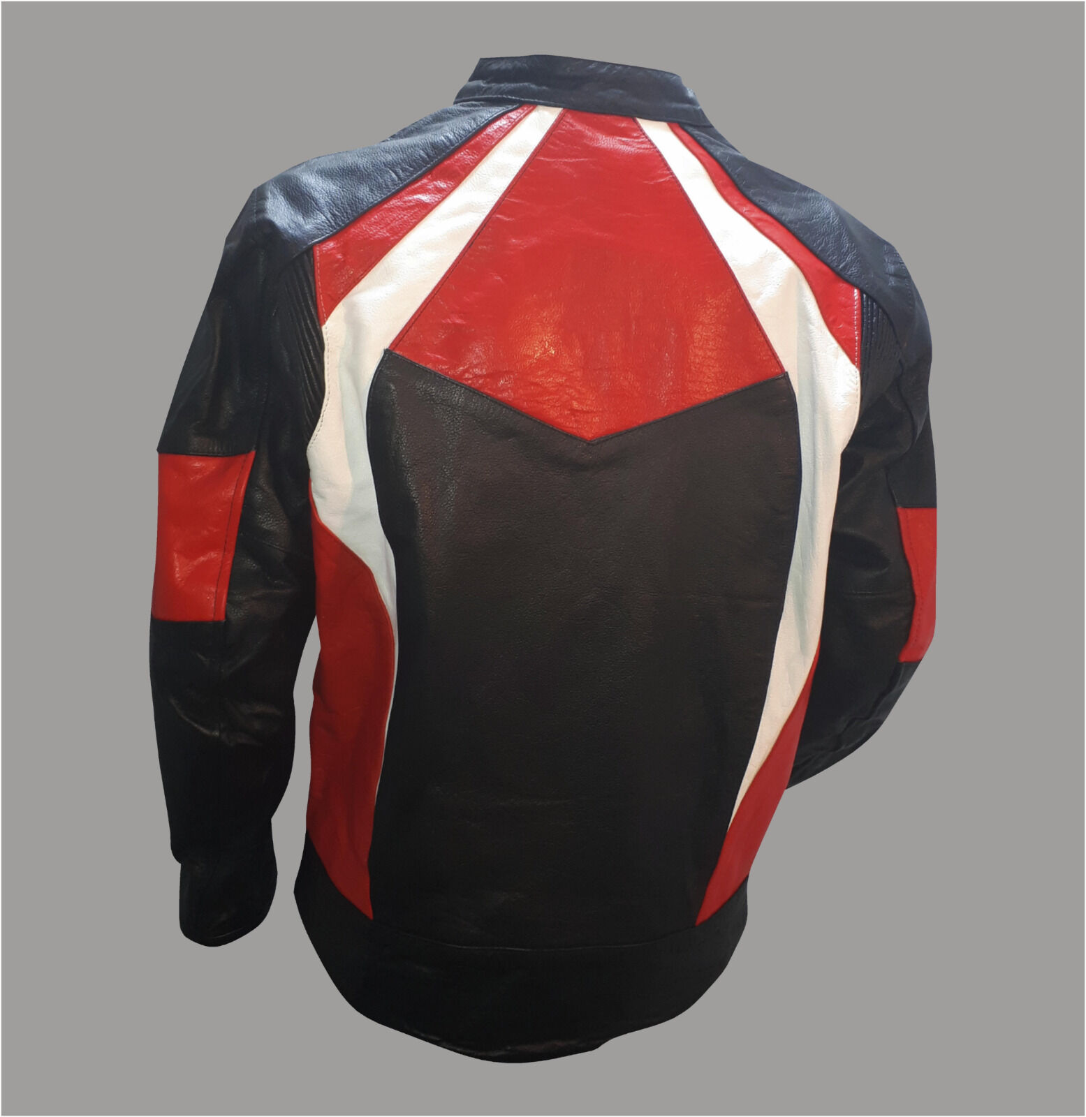 Red, White & Black Leather Jacket