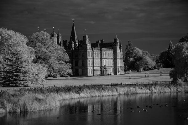 Burghley From the Lion Bridge