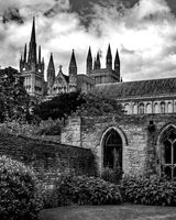 Peterborough Cathedral from the Slype
