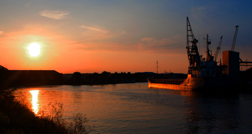 Sunset on the Witham